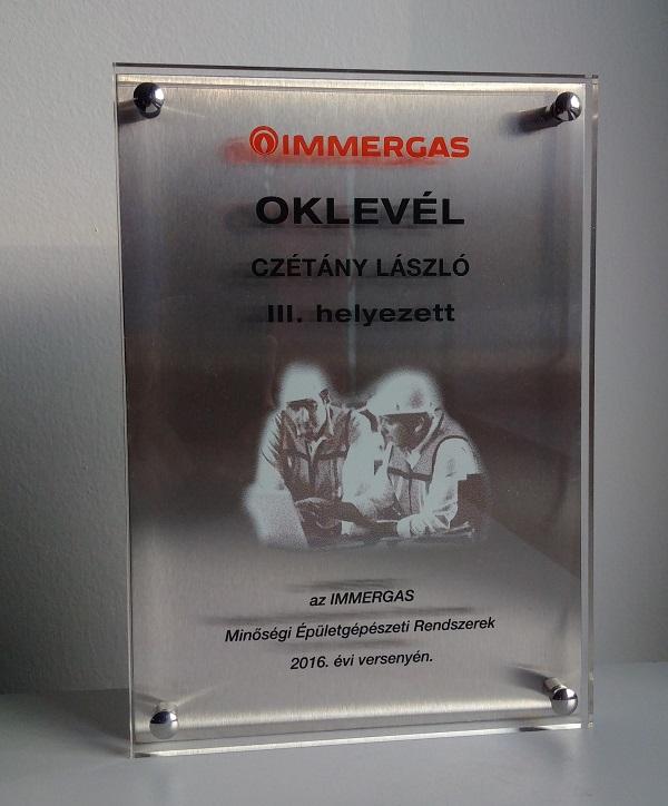 Immergas díj 2016